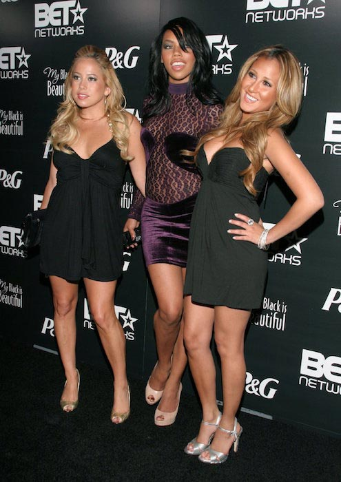 Sabrina Bryan, Kiely Williams and Adrienne Bailon at group's Pre-BET Awards Party on June 25, 2007