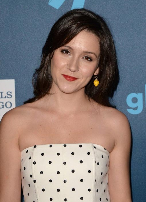 Shannon Woodward at GLAAD Media Awards in Los Angeles in February 2013