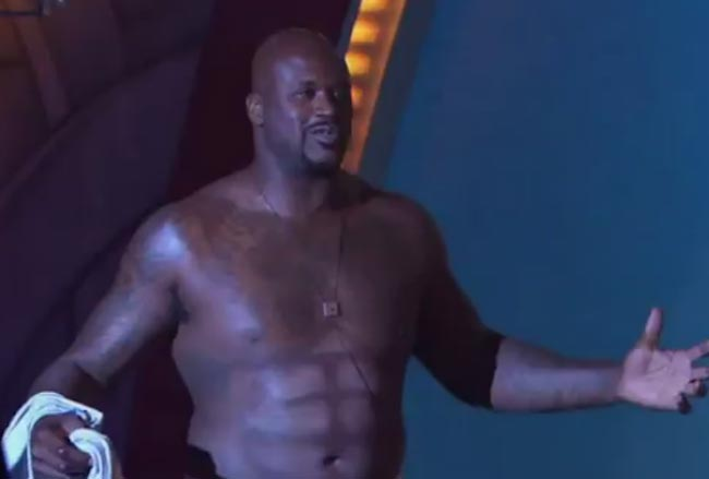 Shaquille O'Neal shirtless body