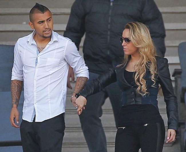 Arturo Vidal and his wife Maria Teresa Matus