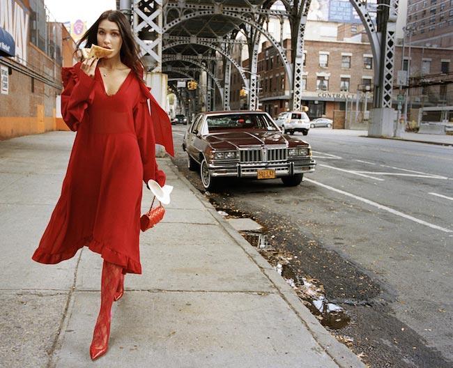 Bella Hadid by Dan Martensen for Elle US - February 2016