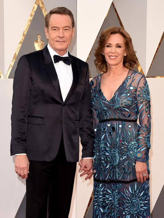 Bryan Cranston and Robin Dearden at the 88th Annual Academy Awards