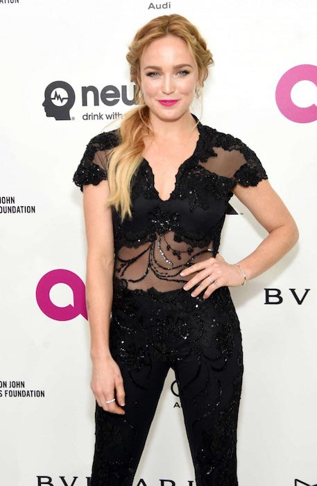 Caity Lotz at 2016 Elton John AIDS Foundations Oscar Viewing Party