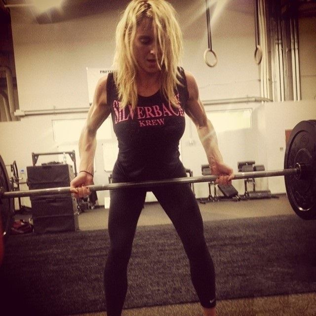 Charlotte lifting the weight