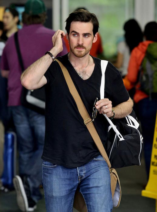 Colin O'Donoghue at YVR Airport in Vancouver