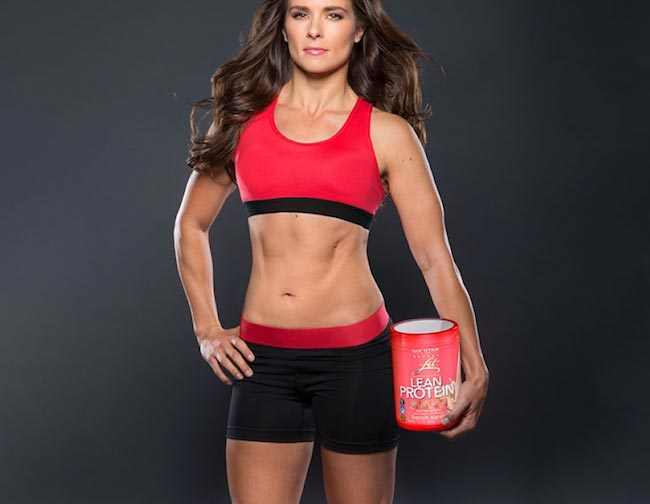 Danica Patrick with lean protein powder