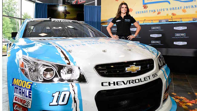 Danica Patrick with her car