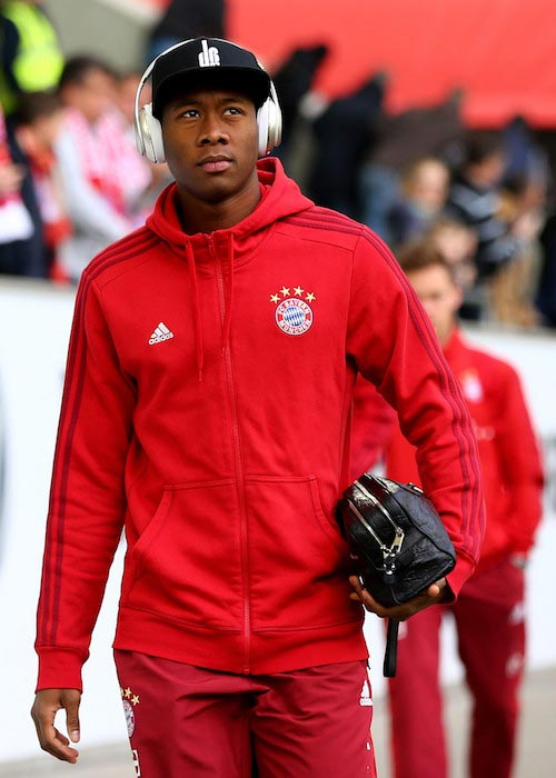 David Alaba before a Bundesliga match between Bayern Munich and VfL Wolfsburg on February 27, 2016 in Wolfsburg, Germany