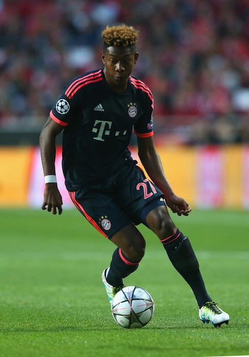 David Alaba at UEFA Champions League quarter final match between between SL Benfica and FC Bayern Muenchen on April 13, 2016