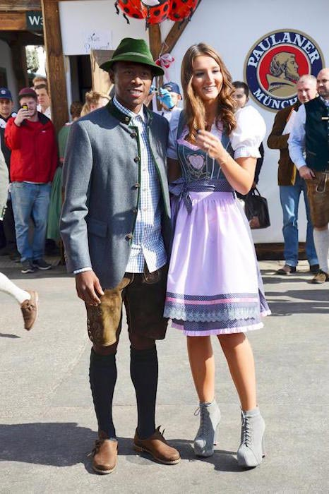 David Alaba and Katja Butylina together at the traditional Oktoberfest in 2015