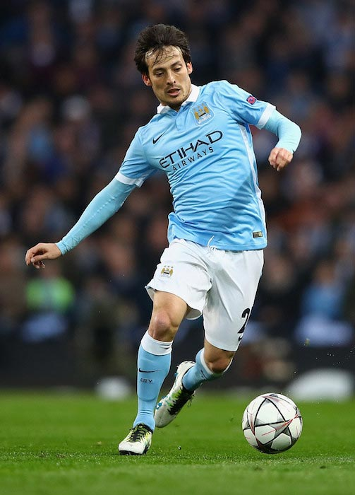 David Silva during the UEFA Champions League Quarter Final second leg match between Manchester City and Paris Saint-Germain on April 12, 2016