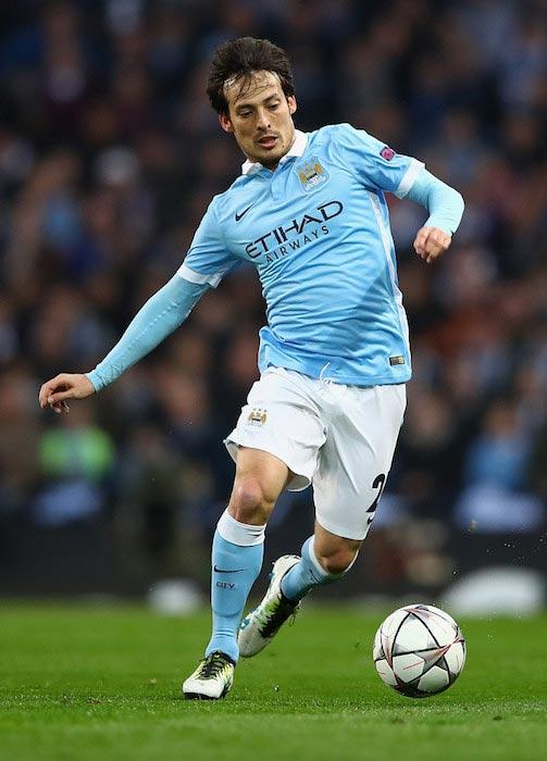 David Silva during the UEFA Champions League Quarter Final second leg match between Manchester City and Paris Saint-Germain on April 12, 2016