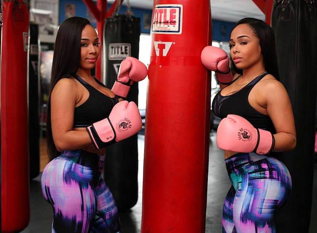 Double Dose Twins boxing workout