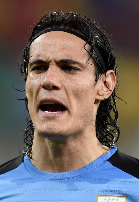Edinson Cavani during a match of Uruguay against Brazil, part of 2018 FIFA World Cup Russia Qualifiers on March 25, 2016 in Recife, Brazil