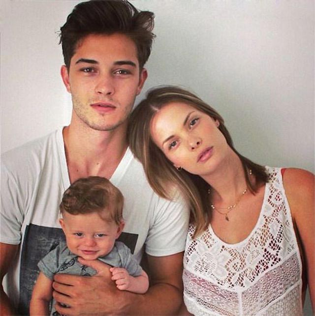 Francisco Lachowski, Jessiann Gravel Beland and their baby
