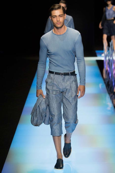Francisco Lachowski during Giorgio Armani Spring / Summer 2016 Menswear Milan Fashion Week