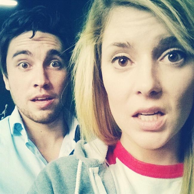 Grace Helbig and Chester See