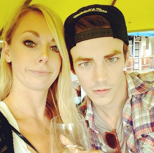 Grant Gustin and Hannah Douglass