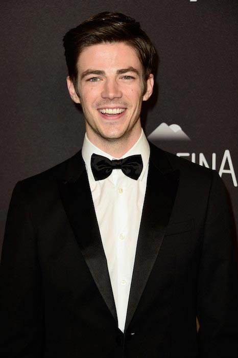 Grant Gustin at InStyle and Warner Bros. 2016 Golden Globe Awards Post Party