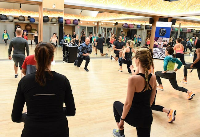 Harley Pasternak during a fitness class