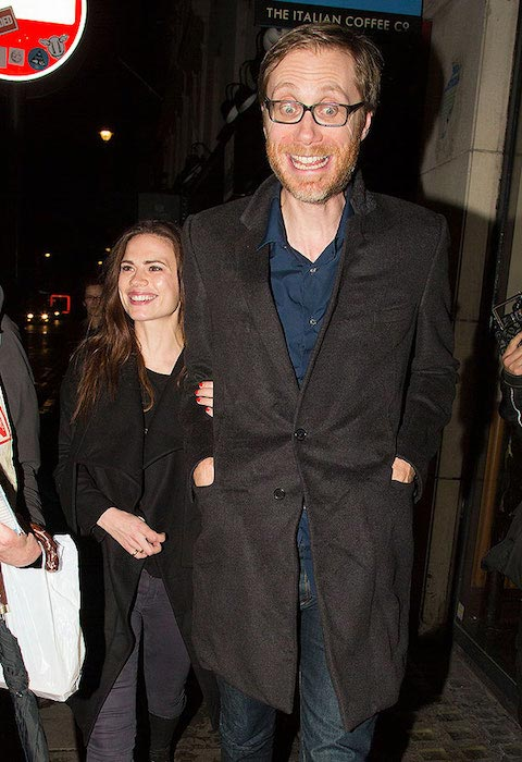 Hayley Atwell and Stephen Merchant