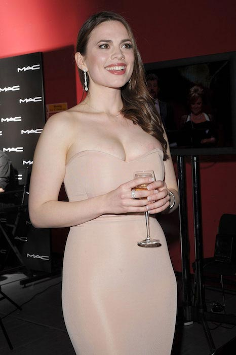 Hayley Atwell at 2012 Olivier Awards in London