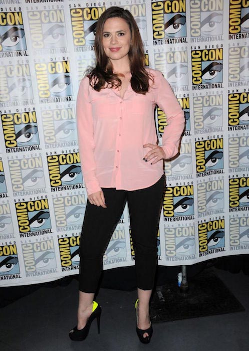 Hayley Atwell at Comic-Con 2015 in San Diego