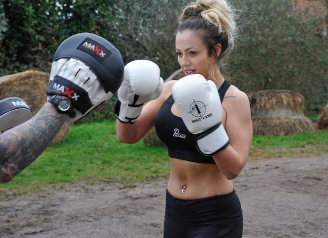 Holly Hagan boxing workout