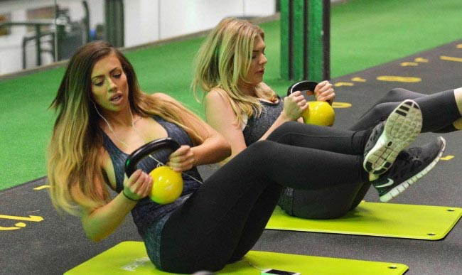 Holly Hagan kettlebell workout for abs