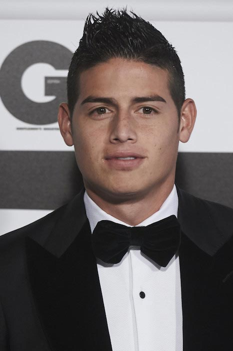 James Rodriguez at the GQ Men of The Year 2015 Awards in Madrid, Spain