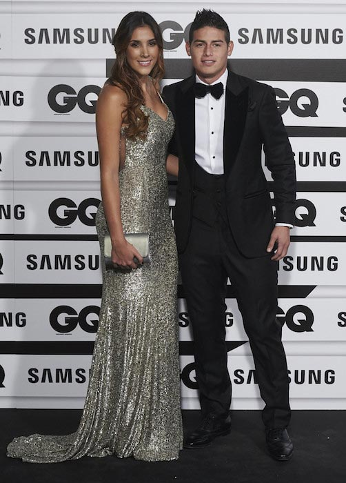 James Rodriguez and his wife Daniela at the GQ Men of The Year 2015 Awards on November 5, 2015 in Madrid, Spain
