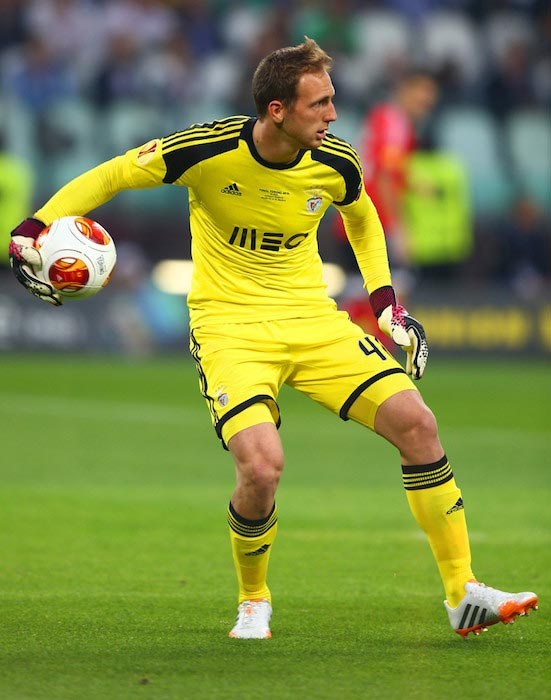 Jan Oblak in action during the UEFA Europa League Final between Benfica and Sevilla on May 14, 2014