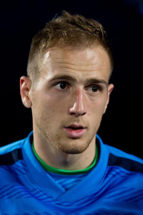 Jan Oblak during a match between Atletico Madrid and Getafe CF on October 26, 2014 in Getafe, Spain