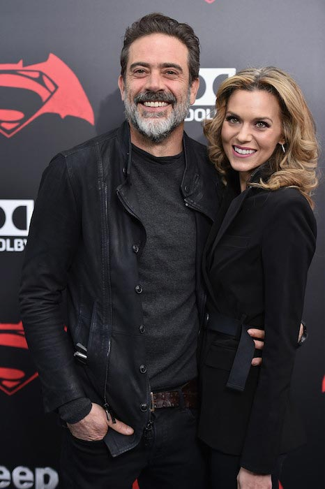"Jeffrey with his sweetheart Hilarie Burton at the premiere of ""Batman V Superman: Dawn Of Justice"" on March 20, 2016"