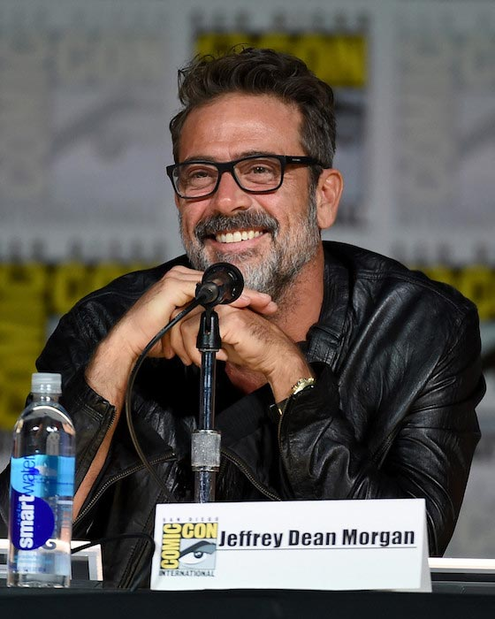 Jeffrey Dean Morgan speaks during Comic-Con International on July 9, 2015 in San Diego, California
