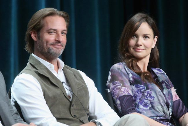 Josh Holloway and Sarah Wayne Callies at Summer TCA Tour 2015