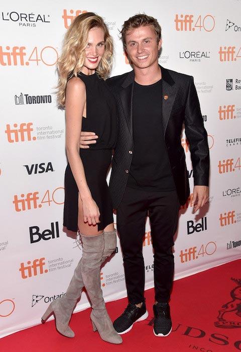 Kenny Wormald and model Danielly Silva at the 2015 Toronto International Film Festival