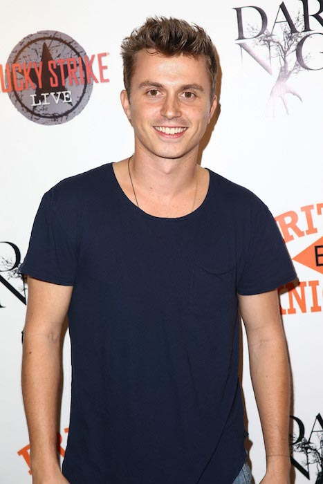 """Kenny Wormald at the LA premiere party for """"Dark Was The Night"""" in October 2014"""
