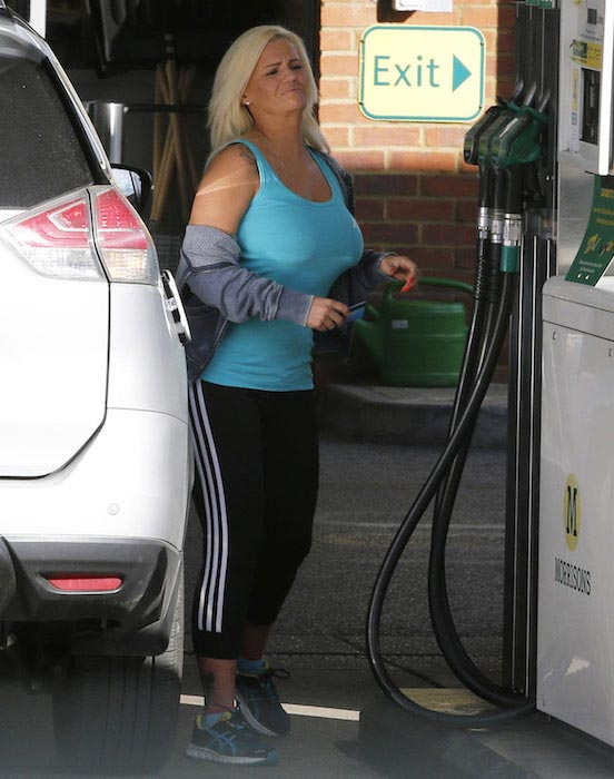 Kerry Katona after gymming
