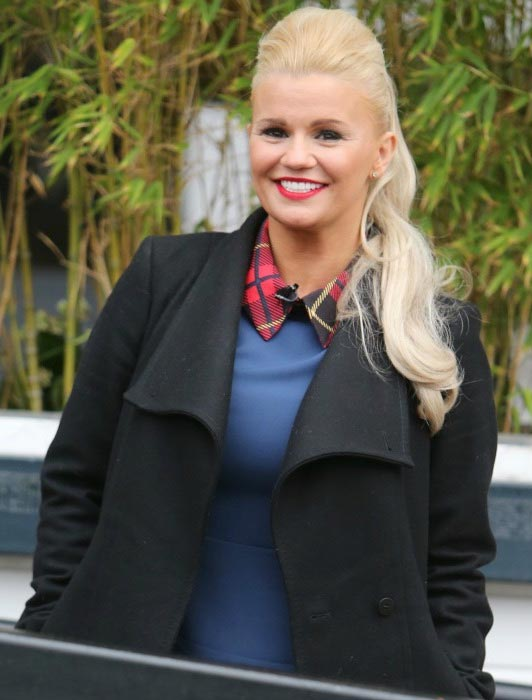 Kerry Katona outside ITV Studios as on February 8, 2016