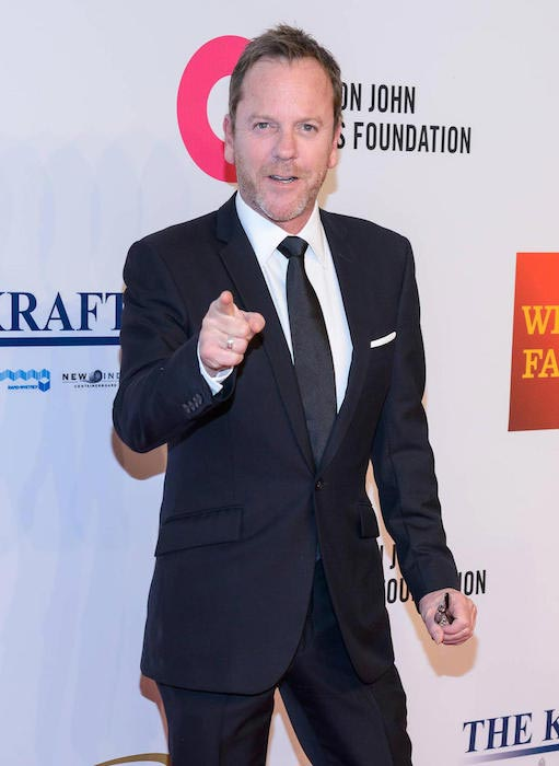 Kiefer Sutherland at Elton John Aids Foundation on November 2, 2015