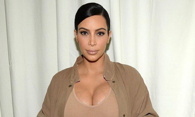 Kim Kardashian closeup