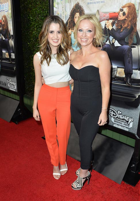"Laura Marano and Leigh-Allyn Baker at the premiere of Disney Channel Original Movie ""Bad Hair Day"" in February 2015"