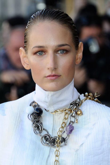 Leelee Sobieski at Christian Dior Fashion Show in Paris in October 2015