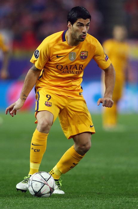 Luis Suarez during the UEFA Champions League Quarter Final Second Leg match between Atletico Madrid and FC Barcelona on April 13, 2016
