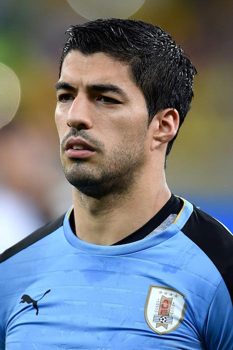 Luis Suarez during a match between Uruguay and Brazil on March 25, 2016 in Recife, Brazil