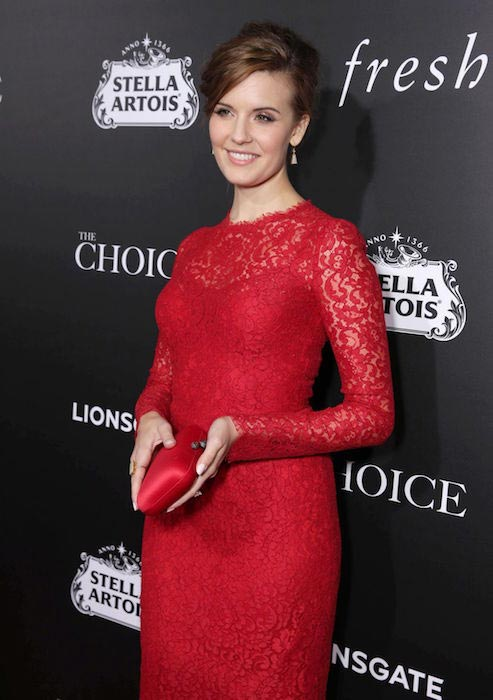 """Maggie Grace at """"The Choice"""" premiere in Hollywood in February 2016"""