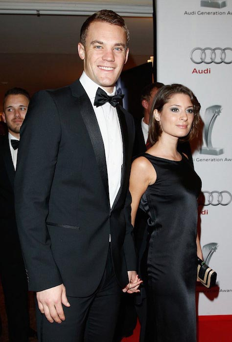 Manuel Neuer and Kathrin Gilch at a gala in Zurich on January 13, 2014