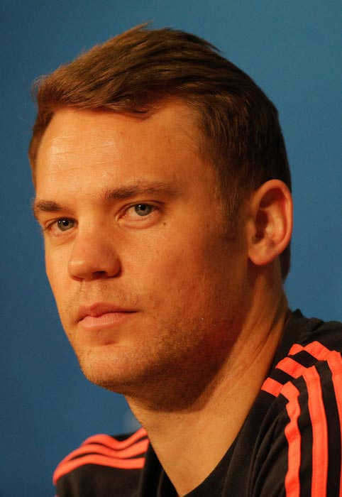 Manuel Neuer during a press conference at Allianz Arena on April 4, 2016 in Munich, Germany