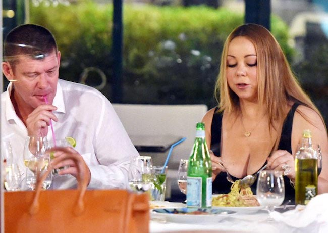Mariah Carey enjoys date night with beau James Packer in Portofino